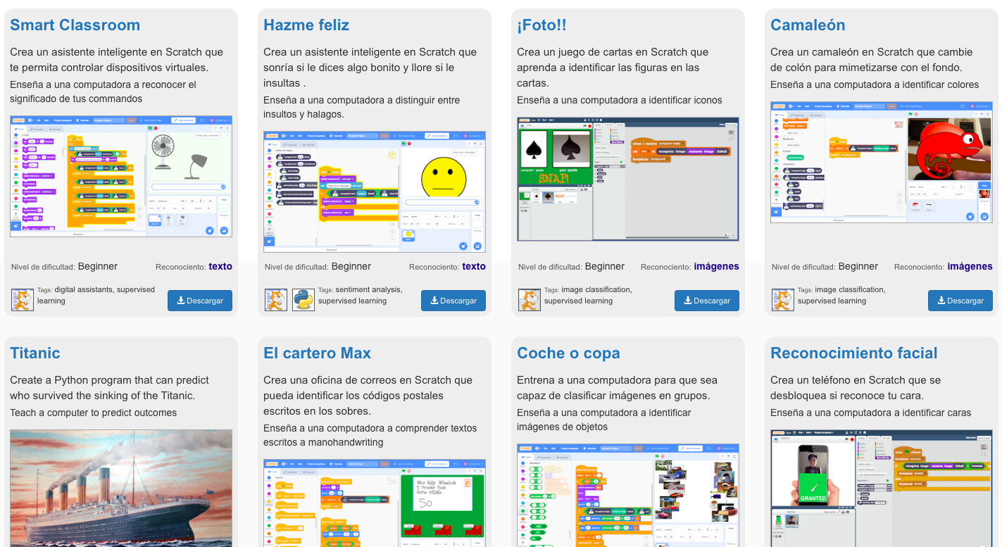 Inteligencia artificial con Scratch